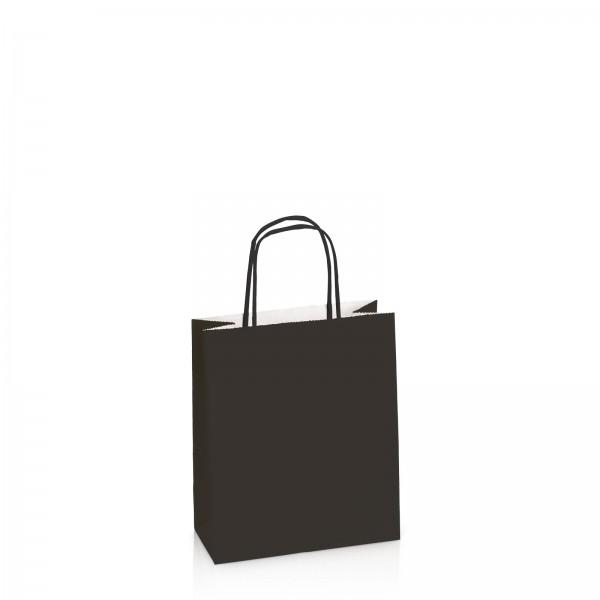 Einkaufstasche aus Kraftpapier Schwarz -S-
