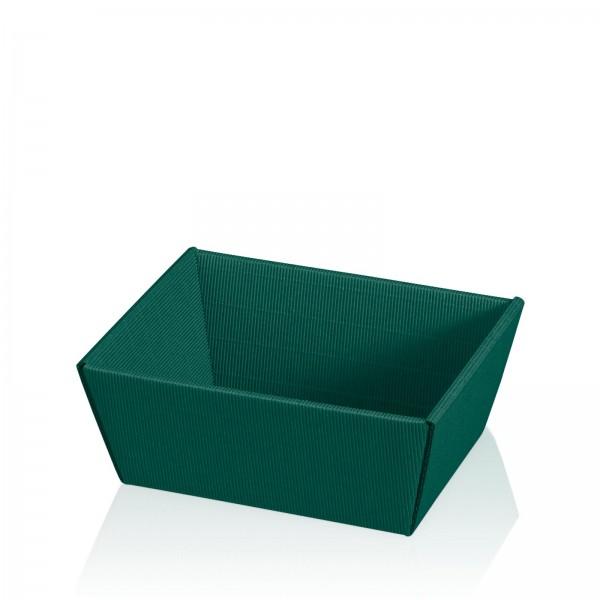 """""""Präsentkorb viereckig Modern Grün"""" -klein-"""