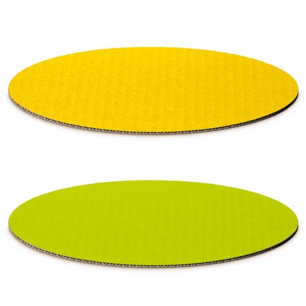 """""""Dekoplatte Limette/Gelb"""" -M- oval"""