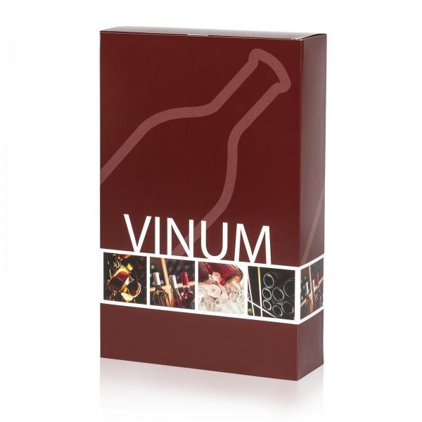 """""""Vinum"""", 3er Faltschachtel für 0.75l Wein"""
