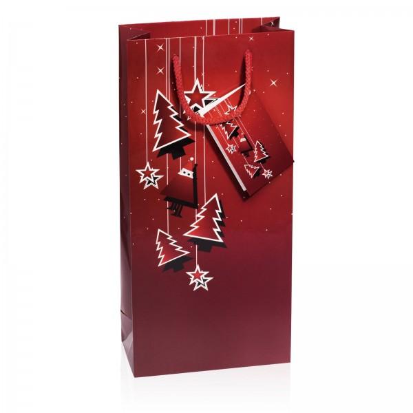 """Papiertragetasche """"Santa"""" Bordeaux Glanzlack 2er"""