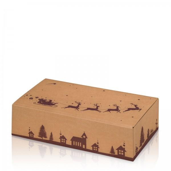 """Natura Weihnachtsschlitten"", 2er Präsentkarton"