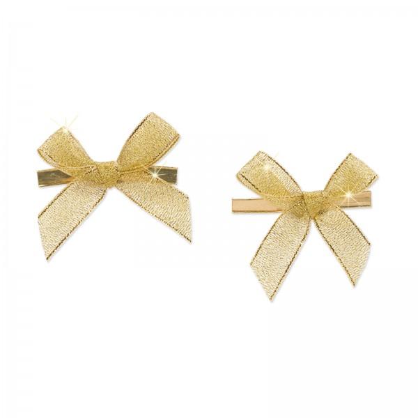 Fertigschleife mit Clip, Gold