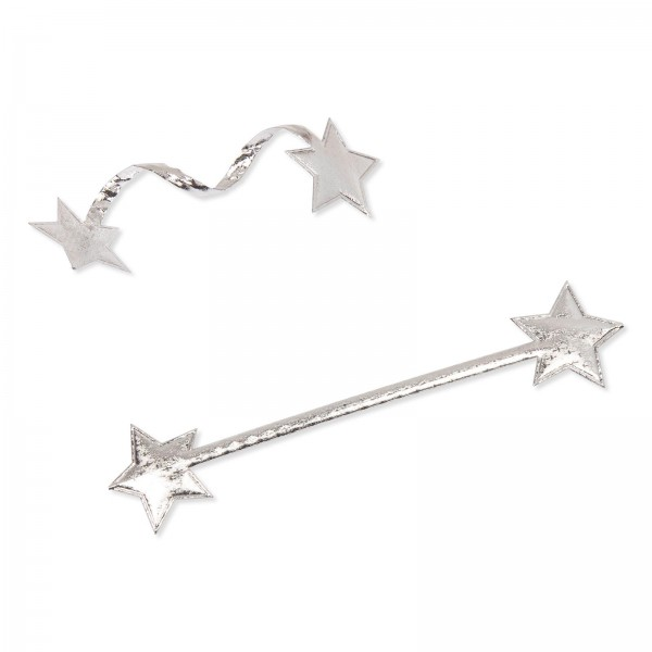 "Verschlußclip ""Stars"" Silber 35mm x 160mm"
