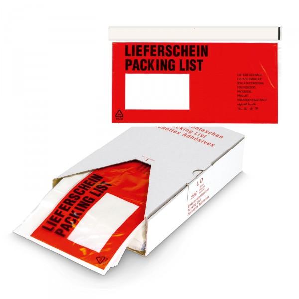 """Dokumententasche DIN-Lang """"Lieferschein"""", 250 Stück"""