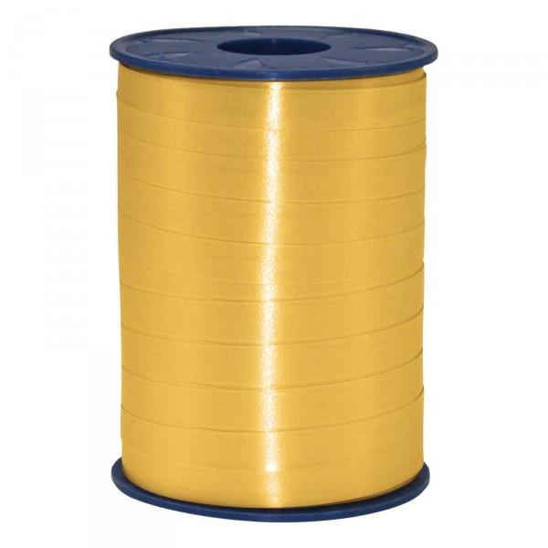 """Geschenkband """"Ringelband Gold matt"""" 10mm x 250m"""