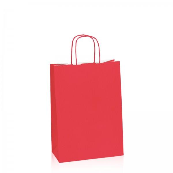 Einkaufstasche aus Kraftpapier Rot -M-