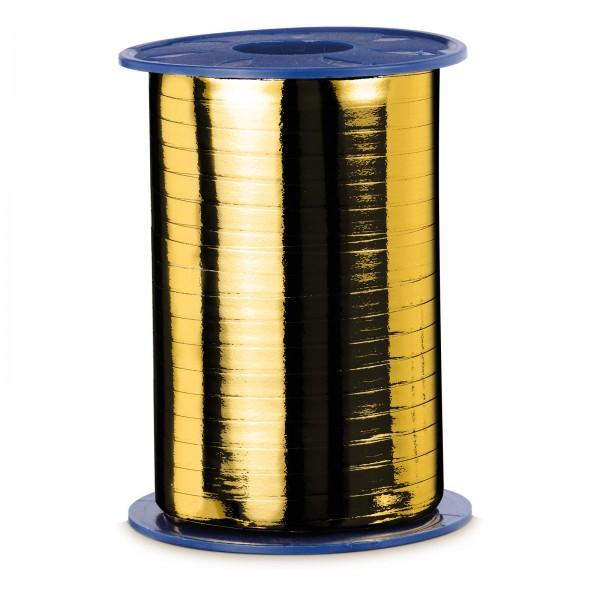 """Geschenkband """"Ringelband Metallic-Gold"""" 5mm x 400m"""
