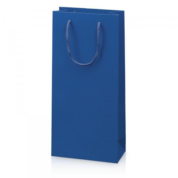 """Papiertragetasche """"Linea"""" Blau mit Streifenprägung 2er"""