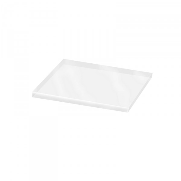 Transparentdeckel für 4-eck Korb klein, geklebt