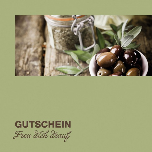 """Gutschein """"Oliven"""""""