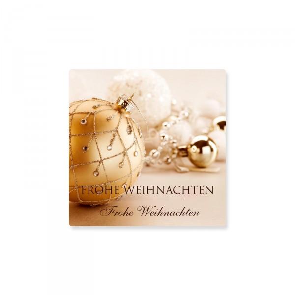 """Klebeetiketten """"Frohe Weihnachten"""" Gold, 500 Stück"""