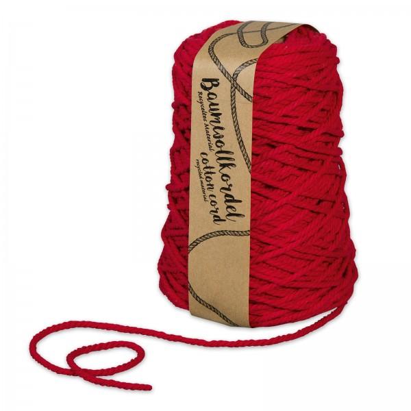 Baumwollkordel Rot, Ø 5mm x 80m