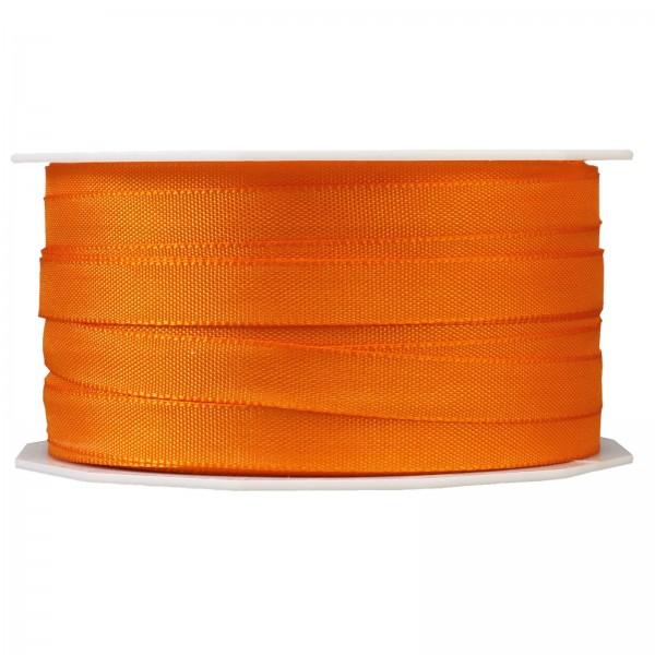 """Geschenkband """"Uni"""" Orange 10mm x 50m"""