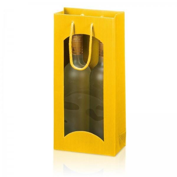 Tragetasche Gelb offene Welle mit Fenster 2er