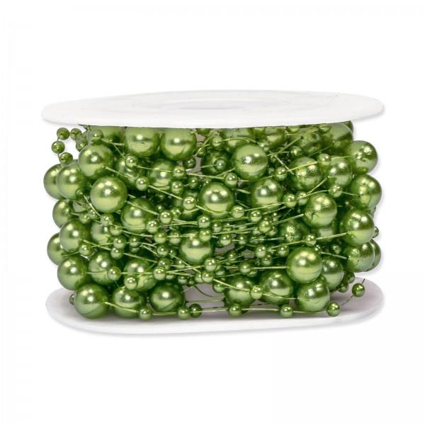 Perlenschnur Grün, ø 8mm x 10m