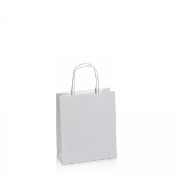 Einkaufstasche aus Kraftpapier Mattsilber -S-