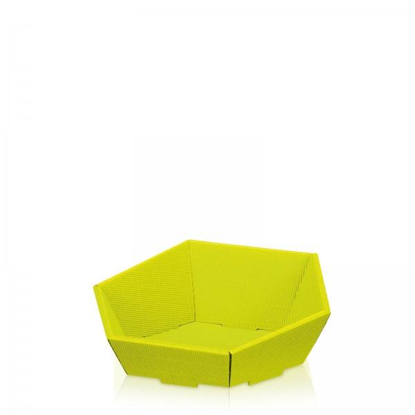 "Präsentkorb 6-eckig ""Modern Limette"" -klein-"