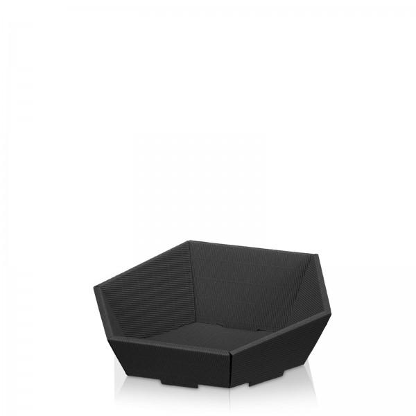 Präsentkorb 6-eckig Modern Schwarz -klein-