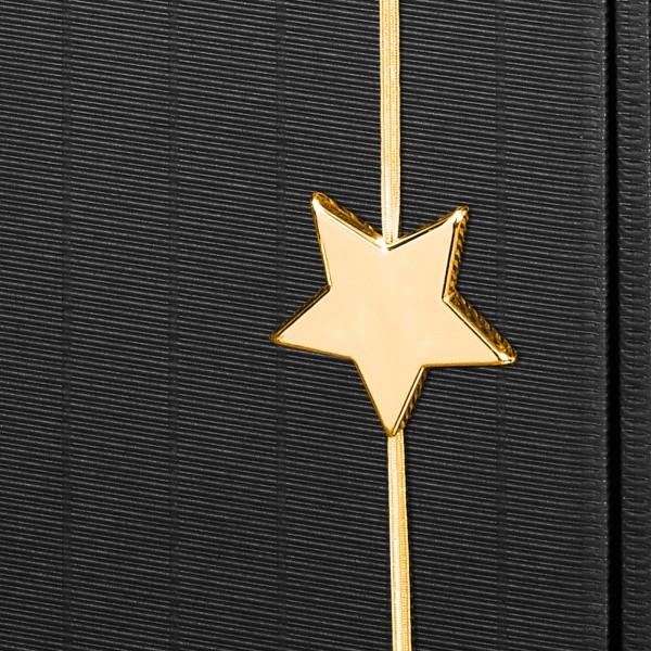 """Dekoelement """"Flashlight"""" Stern Gold mit Gummiband Ø 5-6 cm"""