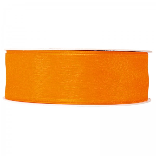 """Geschenkband """"Organza Orange"""" 40mm x 50m"""