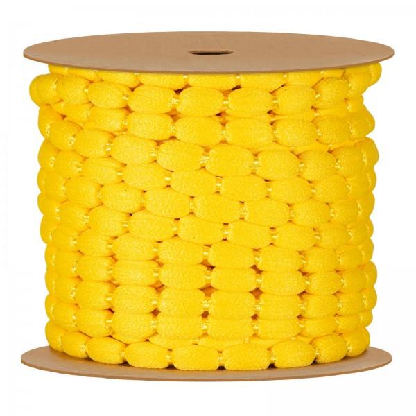 Pompon-Schnur, Gelb, 8mm x 15m