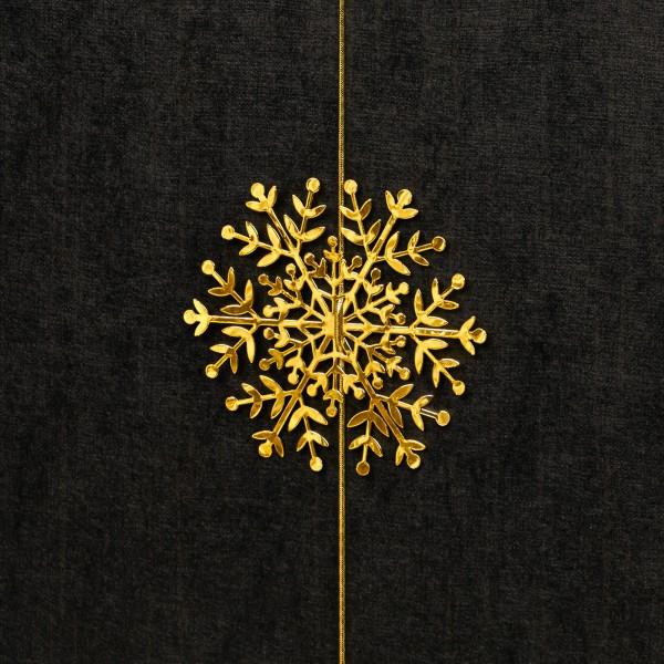 Schneeflocke mit Gummiband, Gold