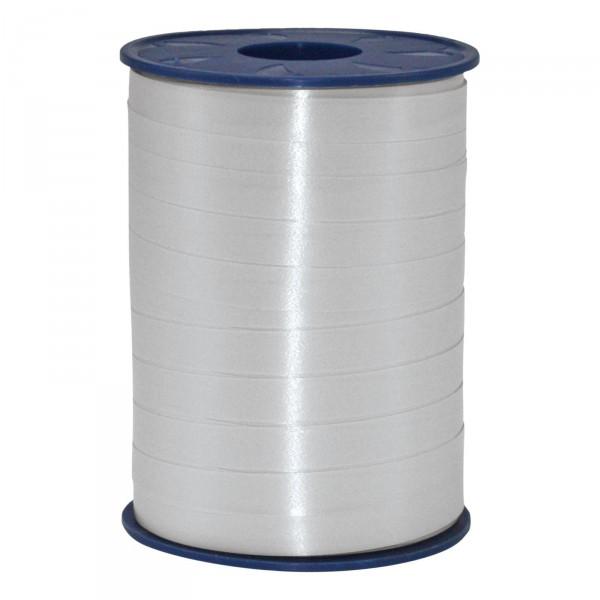 """Geschenkband """"Ringelband Silber matt"""" 10mm x 250m"""