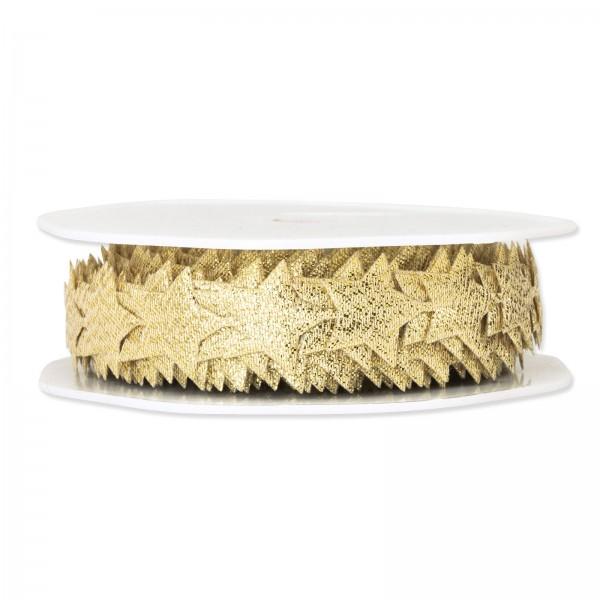 Lurex-Sternenkette Gold, 20mm x 10m
